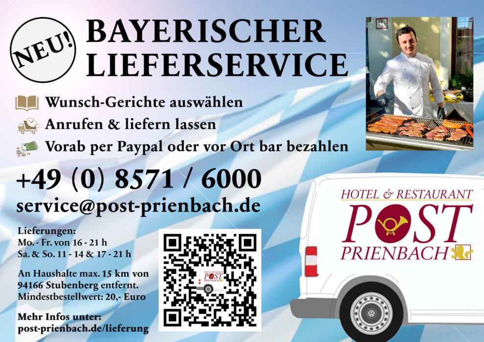 Post Prienbach bietet Lieferservice