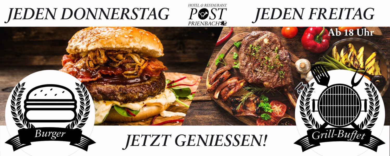 Grill-Buffet ab kommenden Freitag!